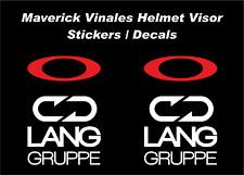 Maverick Vinales Stickers Helmet Visor Decals NEW 2017 Season