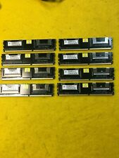 LOT OF 8 NANYA 4GB DDR2 PC2-5300F 2Rx4 SERVER MEMORY NT4GT72U4ND1BD-3C