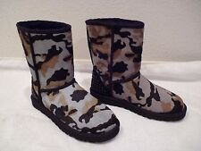 Ladies UGG Australia ROWLAND black Camo Calf Hair Boots stud SZ 7-NEW