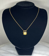 Carrera Y Carrera 18K Yellow Gold Romeo and Juliet Lady Bug Pendant Necklace