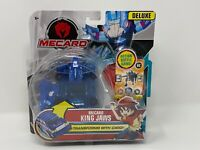 Mecard King Jaws Deluxe Mecardimal Figure, Blue ******LOT OF 7 ******