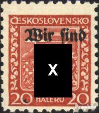 Rumburg (Sudetenland) 3 postfris 1938 Afdrukken de Duits. Feestje