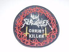 NUNSLAUGHTER CHRIST KILLER EMBROIDERED PATCH