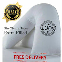 V Shaped Pillow Extra Filled Back Support Orthopedic Pregnancy Nursing Maternity