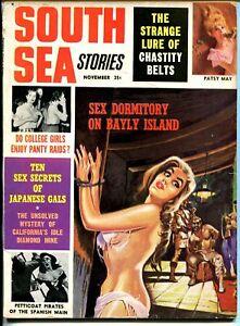 South Sea Stories 11/1964-bondage-torture-female pirates-pulp thrills-VG
