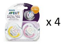 Philips Avent Contemporary Freeflow Pacifier 6-18m, Designs Vary, 2Ct, (4 Pack)