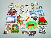 25 Vintage Magnets Collection of States, Cities, Places to Visit, Nice Graphics