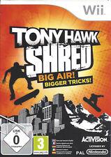 TONY HAWK SHRED for Nintendo Wii - with box & manual - PAL