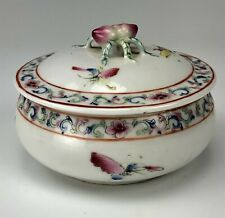 Chinese Export Famille Rose Painted Enamel Porcelain Floral Moth Insect Bowl 777