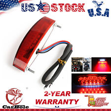 Universal 12V Red Motorcycle LED Tail Light with Rear Brake Stop Lamp Function
