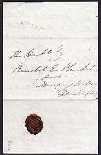 1834 Irish letter to MP Randall Plunkett with a Navan straight line pmk