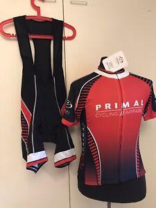 Primal Wear Cycling Kit Bib Shorts & Jersey Prisma & RAGLAN Race Cut SZ M