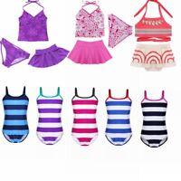 Girls Kid One Piece Mermaid Bikini Swimsuit Swimwear Bathers Swimmers Beachwear