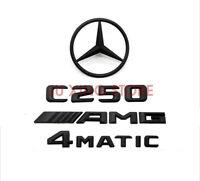 Mercedes-Benz C-Class W204 MATTE BLACK Badge Emblem C250/AMG/4MATIC/REAR STAR