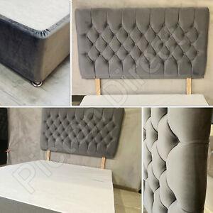 DIVAN PLUSH VELVET HEADBOARD  + MATCHING ELASTICATED BED VALANCE WRAP FREE POST