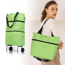 Foldable Shopping Bags Reusable Pull Cart Trolley Bag With Wheels Organizer
