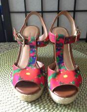 Antonio Melani Womens Yardley Red Wedge Heels Sandals Shoes Sz 7