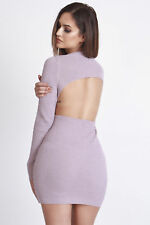 Hot!mess Knitted Backless Bodycon Dress 8-10 Hotmess BNWT RRP £45 Antique Rose