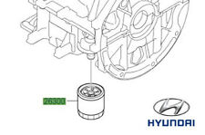 Genuine Hyundai i20 1.2 Petrol Oil Filter - 2630002751
