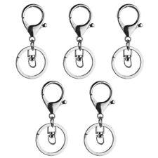 5 Stück Hummer Verschluss Auslöser Clip Schlüsselring charms + Split Ring