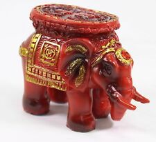 """Feng Shui 3.5"""" Red Elephant Trunk Statue Lucky Figurine Gift and Home Decor"""