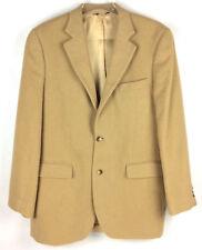 Botany 500 Camel Hair Blazer Size 40 Long Sport Coat Tan Two Button