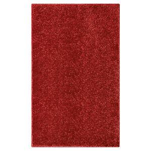 Olivo.Shop, TREND rosso, tappeto moderno in tinta unita, da salotto o camera.