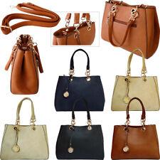 Chain Shoulder Bag Handbag Multi Compartment Office Work Tote Designer Style Bag