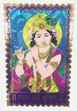 Traditional and Colourful Murli Krishna Foil Sticker – Hindu Religious Sticker