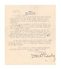 Adophus Greely War Hero Polar Explorer Typed Autograph Letter - Authentic!