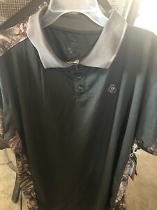 Legendary Whitetails Dark Green And Camo Hunting Polo Size Large