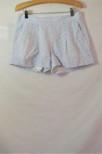 NEW J.Crew White Blue Striped Cotton Casual Shorts Size 4