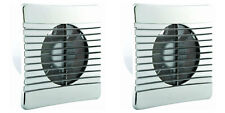 2 x Airvent 404119 Axial Extractor Fans 100 mm/4 Inch with Chrome Cover