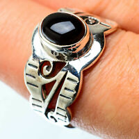 Black Onyx 925 Sterling Silver Ring Size 8 Ana Co Jewelry R25385F