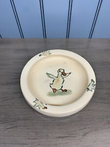 "*Vintage 1920's WELLER Ware Childs Dish Bowl Zona DUCK Baby 7"" Antique Pottery*"