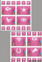 NFL FOOTBALL PINK TSHIRT ANY TEAM BREAST CANCER AWARENESS T SHIRT CUSTOM COLLEGE