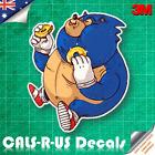 Famous FAT Series Sonic Hedgehog Car Decal Sticker Luggage Skateboard 3M 100mm