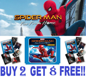 Panini Spiderman FAR FROM HOME ☆ SINGLE STICKERS & CARDS ☆ BUY 2 GET 8 FREE