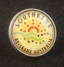 RARE VINTAGE SOUTHBANK BRISBANE AUSTRALIA COLLECTORS PIN BUTTON BADGE RETRO
