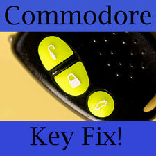 Holden Commodore Key Buttons VS VT VX VY VZ Fluoro Green Set