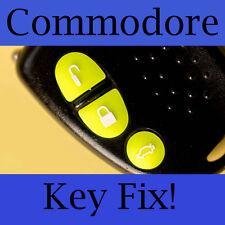 Holden Commodore Key Buttons VS VT VX VY VZ Fluoro Green Set