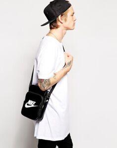 Nike Heritage SI Small Items Black Shoulder Messenger Bag BZ9759-010 NWT