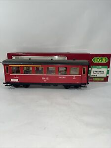 LGB 3063 Red European RhB Coach Car Red 8 Wheel Lighting Kit Passengers Germany
