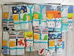 REDKITE SLEEPSUITS BOYS 3-6 MONTHS 3 PACK MOTHERCARE STYLE 100% COTTON