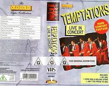 TEMPTATIONS - LIVE IN CONCERT -VHS -PAL -NEW & SEALED!! -Never played Very rare!