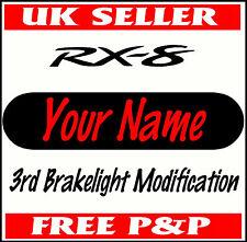 Personalised MAZDA Rx-8 Brake Light Sticker Car Vinyl Adhesive Graphic Decals