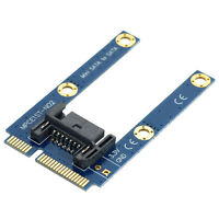 Mini PCI-E mSATA SSD to Flat SATA 7pin Hard Disk Drive PCBA Extension Adapter