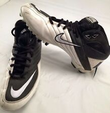 Nike Super Speed TD Black/White Molded Football Cleats/Shoes 396254-001 Size 9