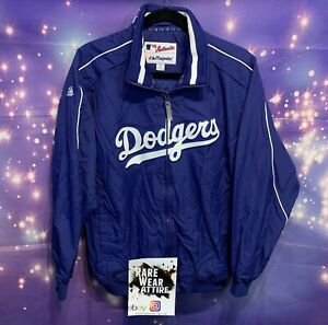 Los Angeles Dodgers Majestic Authentic Collection Nylon Zipper Jacket Sz Xl Mlb