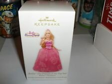 Barbie`2012`Princess & Pop Star`Handcrafted & Fabric`Hallmark Ornament>Free 2 US